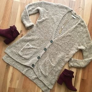 Oversized teddy cardigan